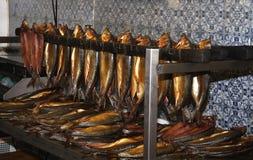 Salmones curados fumados. Fotografía de archivo