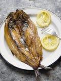 Salmones curados ingleses ahumados rústicos Imagen de archivo