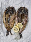 Salmones curados ingleses ahumados rústicos Fotografía de archivo libre de regalías