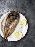 Salmones curados ingleses ahumados rústicos Foto de archivo libre de regalías