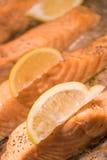 Salmones de la carne asada Imagen de archivo