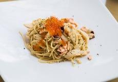 Salmones de los espaguetis Foto de archivo