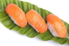 Salmones del sushi Imagenes de archivo