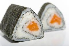 Salmones del sushi Foto de archivo libre de regalías