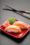 Salmones deliciosos. Imagen de archivo