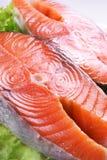 Salmones frescos Imagen de archivo libre de regalías