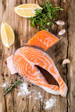 Salmones frescos Fotografía de archivo libre de regalías