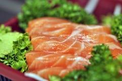 Salmones frescos crudos del sushi Foto de archivo