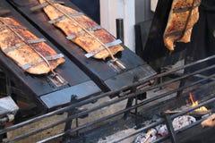 Salmones fumados foto de archivo