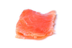 Salmones fumados aislados en blanco imagen de archivo