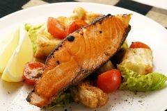 Salmones; pimienta asada a la parilla Imagen de archivo