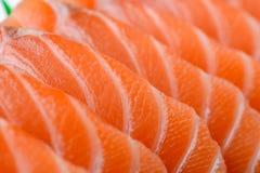 Salmones rebanados Foto de archivo libre de regalías