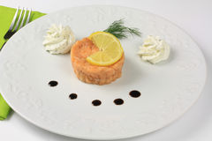 Salmones tartare Imagenes de archivo