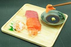Salmones y atún de Sasimi Fotos de archivo
