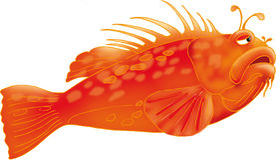Salmonetess AI EPS do llustration 3D do vetor Fotografia de Stock Royalty Free
