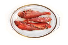 Salmonetess crus isolados Fotografia de Stock