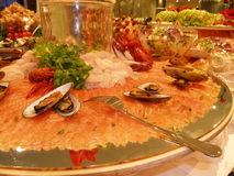 Salmoni affettati fotografie stock