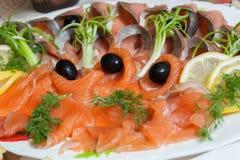 Salmoni affettati Immagine Stock Libera da Diritti