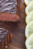 Salmoni affumicati Fotografia Stock Libera da Diritti