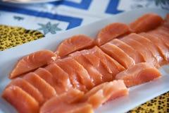 Salmoni affumicati Immagini Stock Libere da Diritti