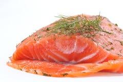 Salmoni affumicati con aneto Fotografia Stock Libera da Diritti