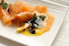 Salmoni affumicati marinati Fotografia Stock