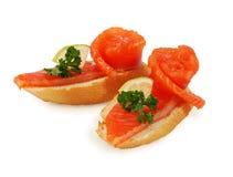 Salmoni affumicati squisiti Fotografie Stock