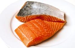 Salmoni atlantici freschi Fotografia Stock