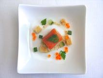Salmoni con il caviale Fotografia Stock Libera da Diritti