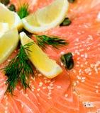 Salmoni con il limone Immagine Stock Libera da Diritti
