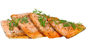 Salmoni cotti Fotografia Stock