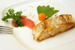 Salmone arrostito Fotografie Stock