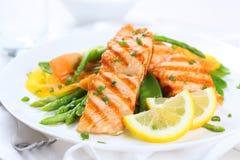 Salmoni cotti con le verdure Immagine Stock Libera da Diritti