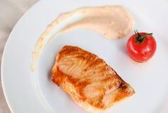 Salmoni cucinati Fotografia Stock