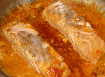 Salmoni cucinati Immagini Stock