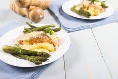Salmoni cucinati Fotografia Stock Libera da Diritti