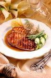 Salmoni del barbecue fotografie stock libere da diritti