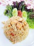 Salmoni del riso fritto. Fotografia Stock Libera da Diritti