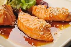 Salmoni di Teriyaki Immagine Stock