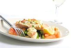 Salmoni e gamberetti Immagini Stock Libere da Diritti