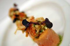 Salmoni ed aragosta 2 Fotografia Stock