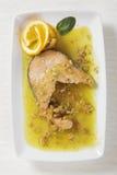 Salmoni ed uva passa Fotografia Stock Libera da Diritti