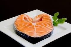 Salmoni freschi fotografia stock