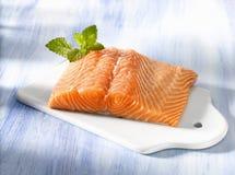 Salmoni freschi fotografie stock libere da diritti
