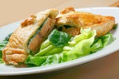 Salmoni in pastella, fotografia stock libera da diritti