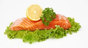 Salmoni rossi freschi Fotografia Stock Libera da Diritti