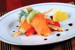 Salmoni salati Immagini Stock Libere da Diritti