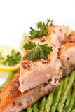 Salmoni sani con coriandolo immagine stock
