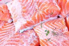 Salmoni saporiti Immagini Stock Libere da Diritti