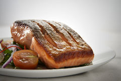 Salmoni Seared Fotografie Stock Libere da Diritti